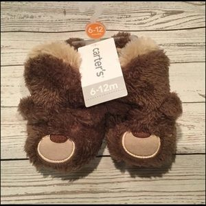 Baby Bear Slippers, 6-12 months